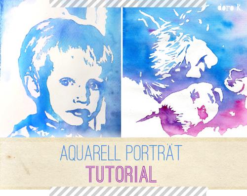 So kannst auch Du ein Aquarell Porträt malen [ DIY Malen ]