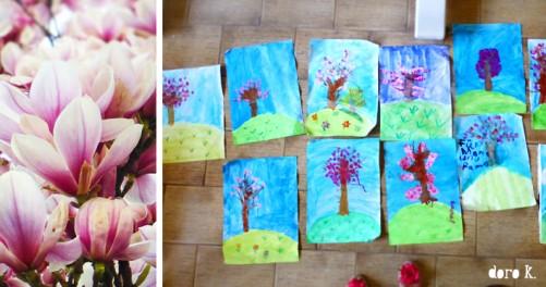 Malen mit Kindern: Frühlingsbaum