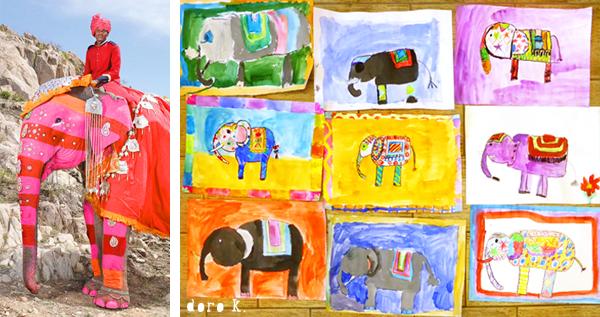 """Elefanten Malen : einiger Kinder: """"Schön! Aber ich kann keinen ..."""