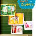 Kinder malen Elefanten