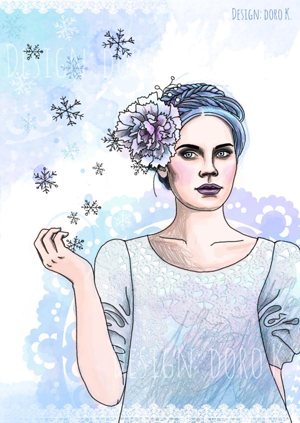 "Illustration ""Winter Girl"""