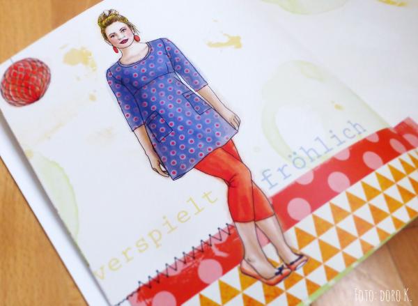 """Illustration """"ein schnitt - vier styles"""" Buch von Rosa P."""