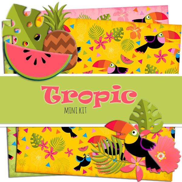 Free Tropic Scrapbook Kit | www.dorokaiser.online.de