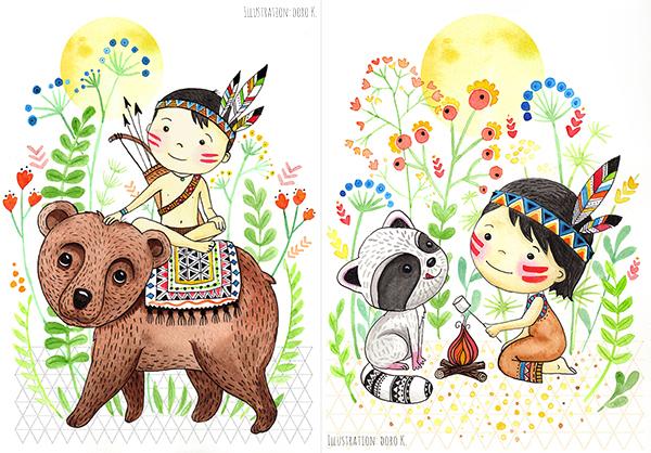 Kinderbild -  Indianer | www.dorokaiser.online.de