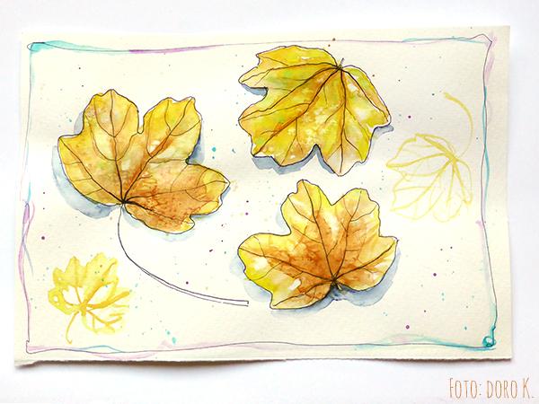 Herbstblätter - Aquarell auf Papier| www.dorokaiser.online.de