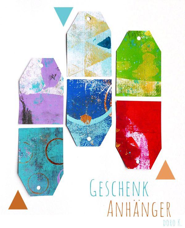 DIY Geschenkanhänger aus selbstbedrucktem Papier | www.dorokaiser.online.de