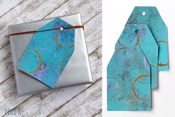 DIY Geschenkanhänger aus selbstbedruckten Papier | www.dorokaiser.online.de
