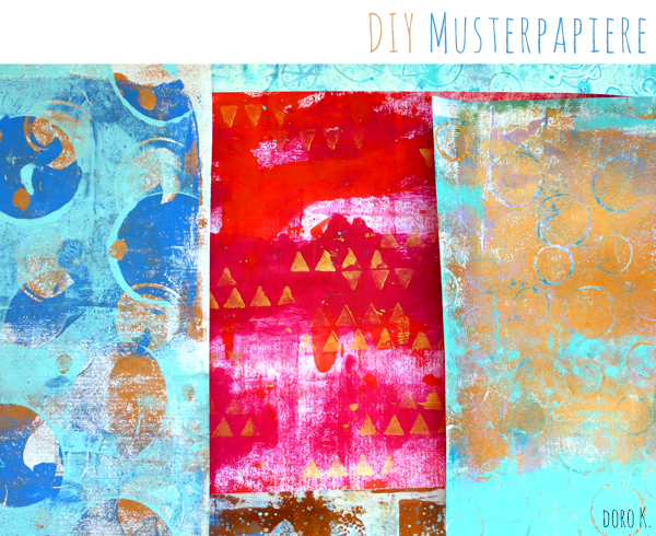 DIY bunte Musterpapiere | www.dorokaiser.online.de