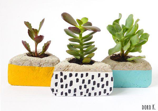 DIY Blumentopf aus Beton | www.dorokaiser.online.de