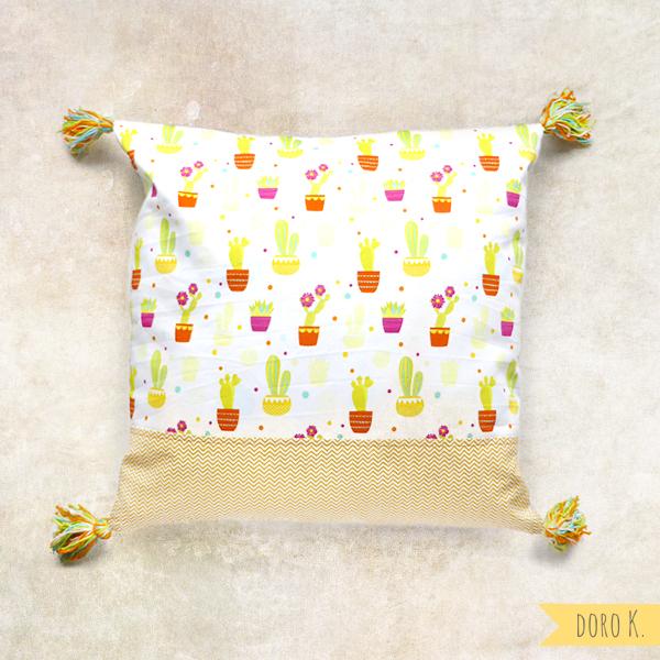 Kissen mit Kaktusmuster | www.dorokaiser.online.de