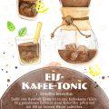 Illustration Eis Kaffee Tonic