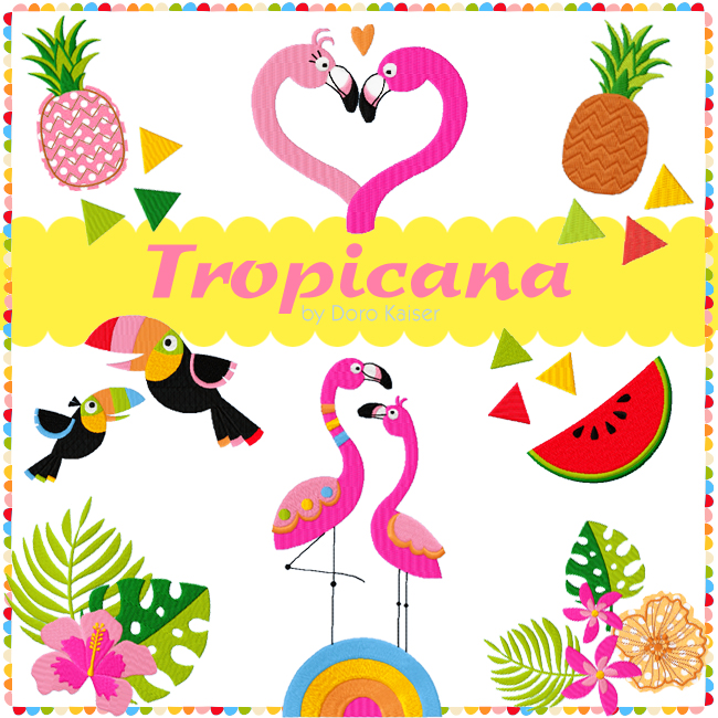 Stickserie TROPICANA