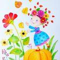 Kinderillustration Herbst