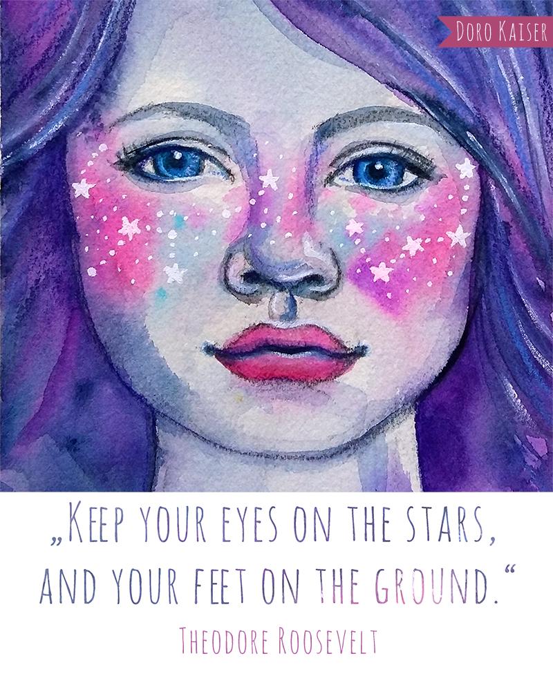 Illustration Galaxy Freckles