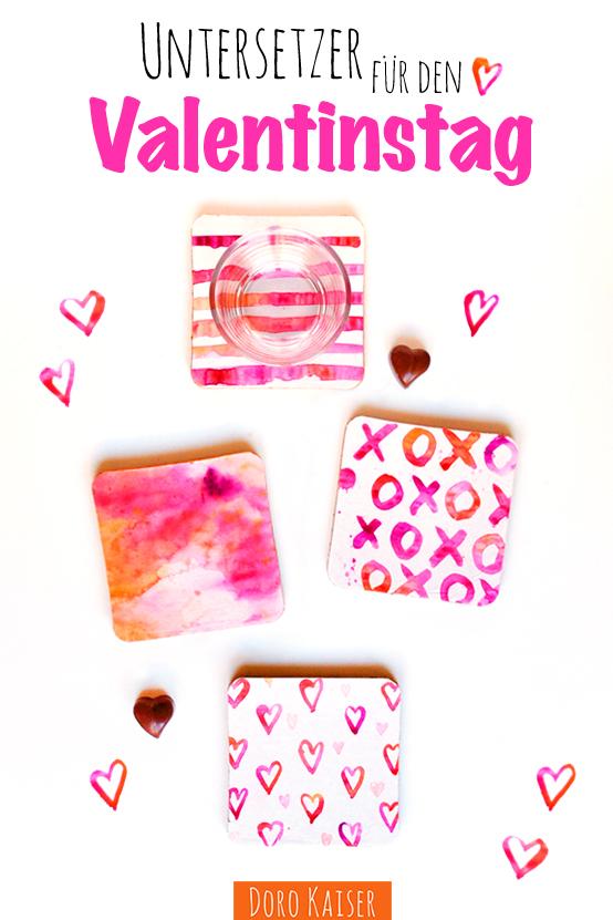 Untersetzer Valentinstag