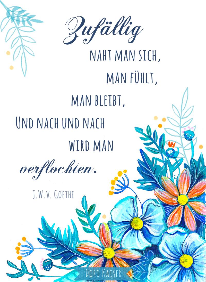 Zitat Illustration Goethe