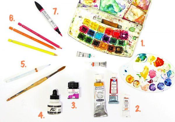 Künstlerbedarf Aquarellfarben