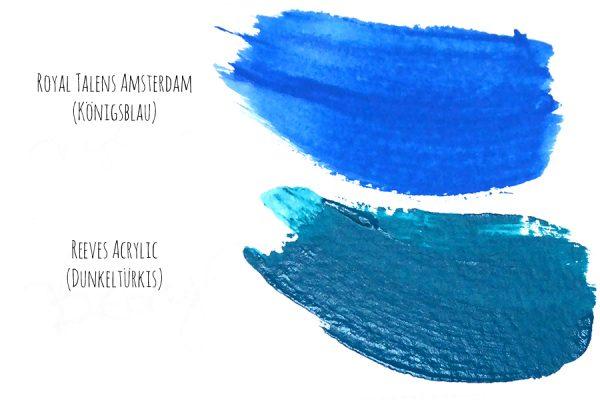 Acrylfarbe Glanz
