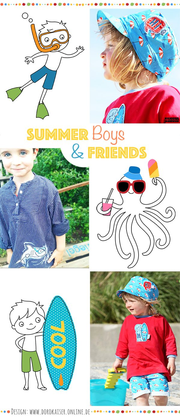 Stickserie Summer Boys
