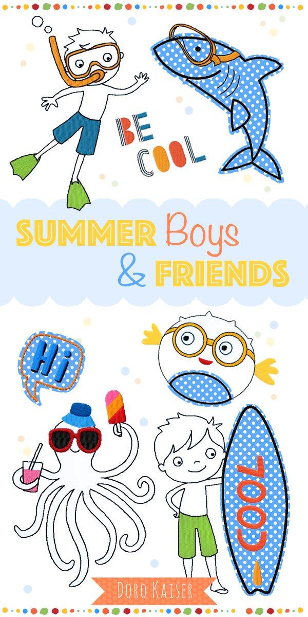 Stickdatei Summer Boys