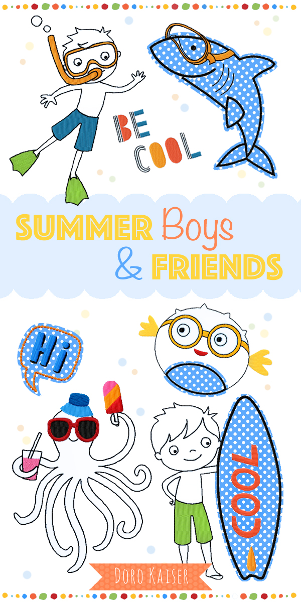 Stickdatei Summer Boys
