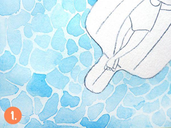Malen lernen: in 4 einfachen Schritten Wasser malen | www.dorokaiser.online.de