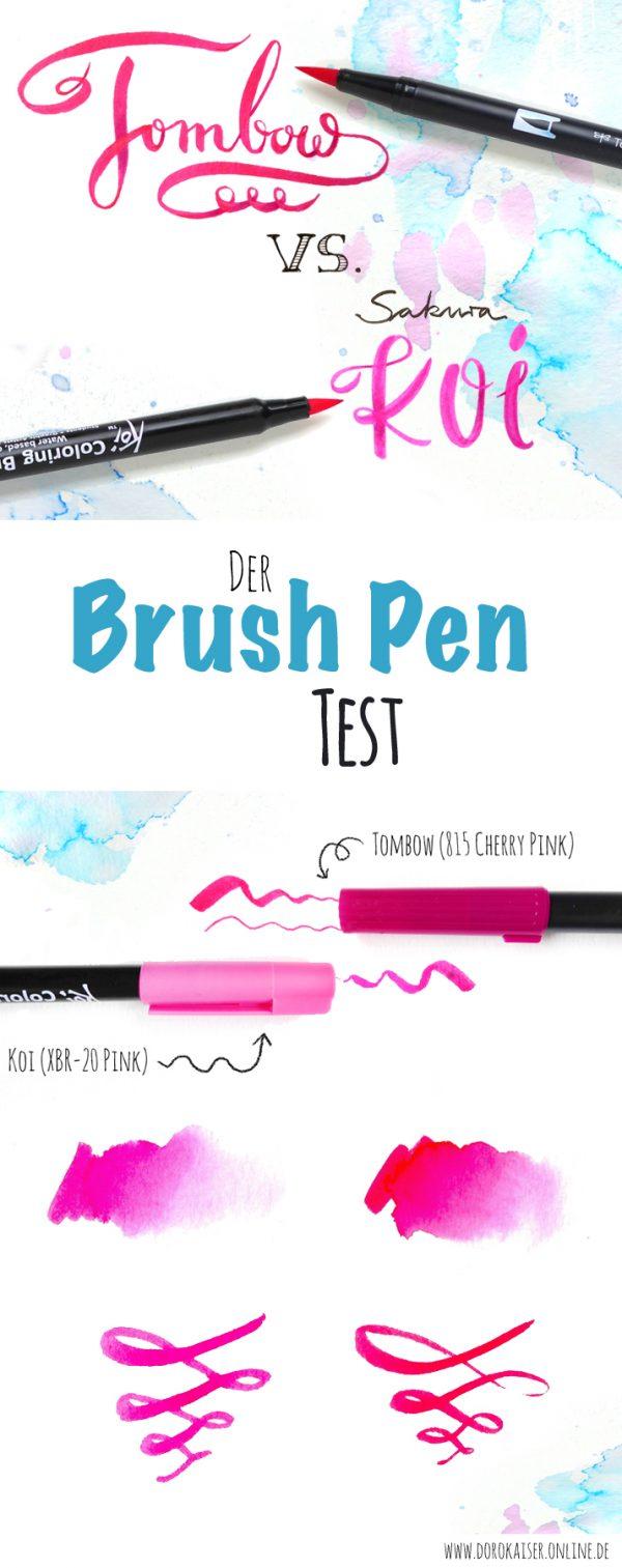 Der große Brush Pen Test: TOMBOW vs. Sakura KOI | Ob für Hand Lettering oder Illustration, Zeichnen oder Aquarellieren, alle Ergebnisse und Erfahrungen findest Du in meinem Blog | www.dorokaiser.online.de